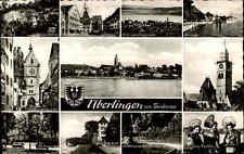 Überlingen am Bodensee Mehrbildkarte 1960 Seeburg Hafen Franziskanertor Hafen