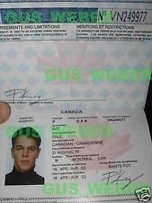 The Bourne Identity, supremacy, Ultimatum passport prop