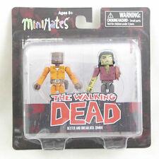 The Walking Dead Minimates Dexter & Deadlock zombie - series 3 - 2 figure pack