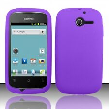 For Huawei Ascend Y H866C Rubber SILICONE Soft Gel Skin Case Cover Dark Purple