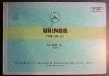 Mercedes Unimog Motoren OM615 Ersatzteil-Liste