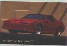 1990 Pontiac Firebird Trans Am GTA Advertising Postcard