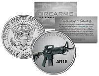 AR15 Gun Firearms JFK Kennedy Half Dollar US Colorized Coin