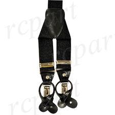 New in box Men's Suspender braces elastic party prom wedding glitter black