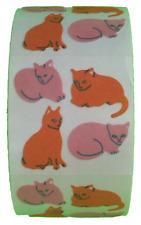 "400 Cat Stickers in roll of 100 modules (2"" x 2""), each sticker 1.00"", RF0205"
