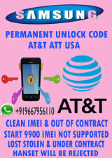 Network Unlock Code SAMSUNG SGH-A777 A187 A157 At&t supported out of contract on