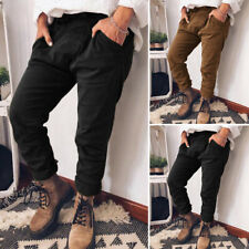 Women Cargo Long Pants Ladies Trousers Casual High Waist Leggings Loose Pockets
