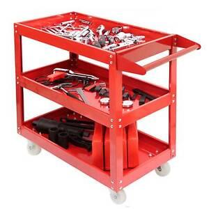 Rouge Chariot servante d'atelier à Chariot à outil Chariot de montage 3 étages