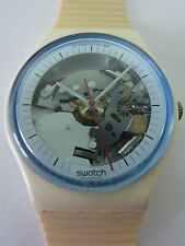 GW110 Swatch - 1988 White Knight Skeleton Classic Swiss Made Authentic