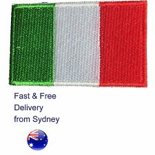 Italian flag iron on patch - Italy Italia tricolour iron-on patches flags
