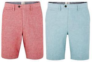 Mens Tailored Fit Linen Blend Shorts