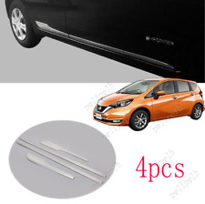 For 2017-2019 Nissan Versa Note Hatch Mirror steel Side Door Body Moulding Trim