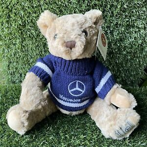 "Mercedes Benz - Herrington Teddy Bear Plush 13"" Sweater Blue 2004"