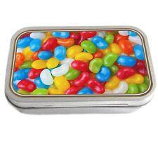 Jelly Beans Design Slim Hinged 1oz Tin Tobacco Storage Pills Fishing Jewellery