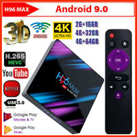 H96 Max RK3318 Android 9.0 32/64GB Quad Core 4K Media Player WiFi Smart TV BOX G