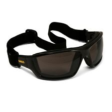 DEWALT CONVERTER SAFETY GLASSES SMOKE ANTI-FOG LENS FOAM PADDED