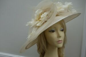 Fabulous Peter Bettley Ivory/Cream Mother of the Bride/Guest Wedding Hat vgc