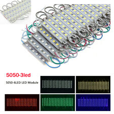 Smd 5050 3led, 6 светодиодов, светодиодный модуль света Водонепроницаемый IP65 Dc 12 В шкаф лампа 100pcs