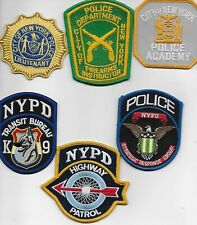 NYPD Patch lot of 6  all brand new never worn ny city police special units badge