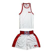 Lonsdale Pro Boxing / Sparring Vest and Shorts set in Small Red / White