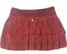 LULULEMON Run Pace Setter Skirt sz 6 Bumble Berry / Hyper Stripe Bordeaux  EUC