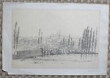 Dessin Original à la Mine de Plombs d'Eugène GOETHALS - Vue de Poitiers - 1832