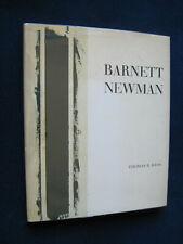 BARNETT NEWMAN by THOMAS B. HESS 1st Ed in Jacket, 1 of Few Hardbound Copies