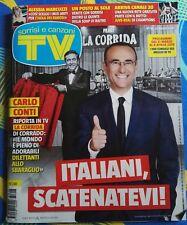 Sorrisi e canzoni TV N°13- 27 marzo 2018 Carlo Conti La Corrida