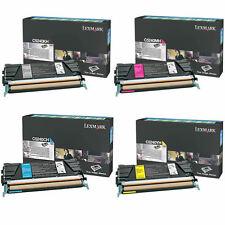 4 x Lexmark Toner Cartridge Set C5240KH,C5240MH,C5240CH,C5240YH C534 C532 C524