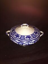 "Early 12 1/4"" Melbourne Flow Blue Soup Tureen"