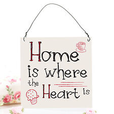 Home Is Where The Heart Is Cute Funny Small Metal Plaque Decorative Sign 10x10cm