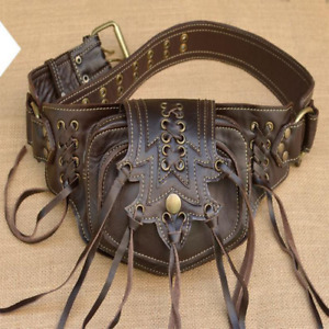 2021 Gothic Steampunk Metal Leather Messenger Bag Men and Women Retro Top