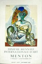 Pablo Picasso Lithograph Poster Femme Nue au Bonnet Turc Mourlot 1974