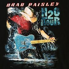 Brad Paisley 2010 H2O World Concert Tour Tshirt Xl Country Music Graphic Cowboy