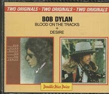 BOB DYLAN - BLOOD ON THE TRACKS + DESIRE FAT BOX 2 CD SET - VGC RARE CBS NPCD 9