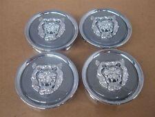 Jaguar Grey Wheel Badge Growler Center Cap Set Of 4 MNA6249GA OEM NEW