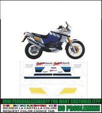 kit adesivi stickers compatibili  XT 750 Z SUPER TENERE 1989 WHITE BLUE