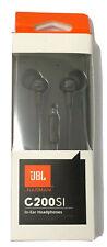 NEW JBL C200SI In-Ear Headphones Wired In-Line Remote/ Microphone - Gun Metal