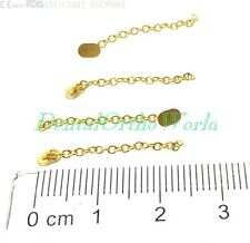 4/PK Gold Traction Chain Oval Button Dental OrthodonticBand Buccal TubeArchwire