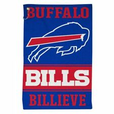 "BUFFALO BILLS ALL PURPOSE GOLF TAILGATE TOWEL 16""X25"" HOOK AND GROMMET"