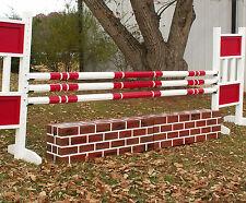 "Horse Jumps Wooden Panel Brick Wall Set/2 - 24"" Tall RP $410"