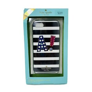 """New Kate Spade New York Hybrid Hardshell Case For IPhone 7 ~ Fits 4.7"""" A Stripe"""