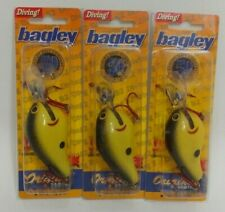 3 Bagley Divin B2 DB2 Crankbait Fishing Lures Lot of 3 DC2