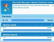 Little Mermaid Motion Complete Set With Ariel Award By Topps disney Collect
