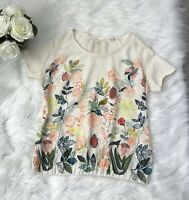 Anthropologie Knitted and Knotted Popillia Floral Painterly Pullover, size small