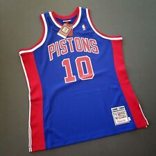 100% Authentic Dennis Rodman Mitchell & Ness 88 89 Pistons Jersey Size 44 L