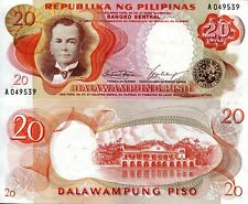 Philippines 20 Piso Banknote World Paper Money Unc Currency Pick p145a Bill Note