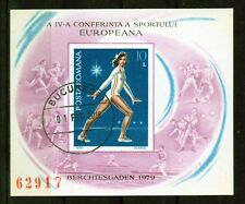 HB RUMANIA / ROMANIA / ROUMANIE año 1979 sindentar yvert nr.137A  usado gimnasia