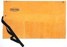 Toolzone 12 Bolsillo de almacenamiento rollo herramienta de cuero 50 cm X 30 Cm Rollo Cincel/llave