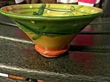 "Ambiance Kaolin 2000 Glazed Art Pottery Decorative Handcrafted 6x3.5"" Bowl NICE!"